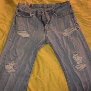 Destroyed 505 men's levi jeans